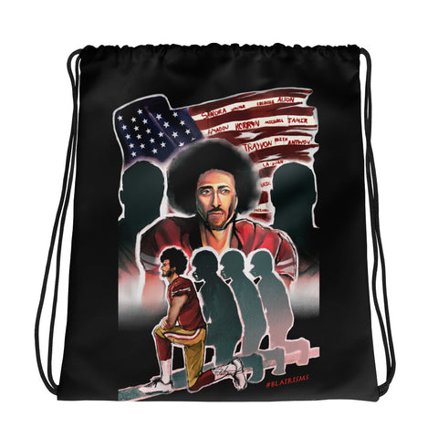 KAEPERNICK PROTEST Drawstring bag