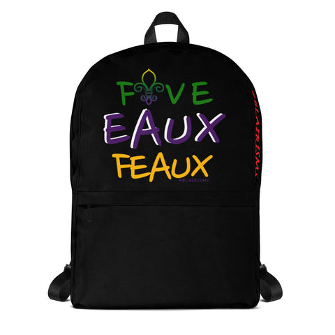FiveEAUXFeaux Mardi Gras Backpack