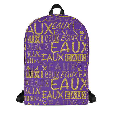 Purple & Gold AllEAUXver Backpack