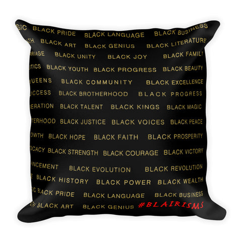 BLACK/GOLD BLACK MAGIC THROW PILLOW