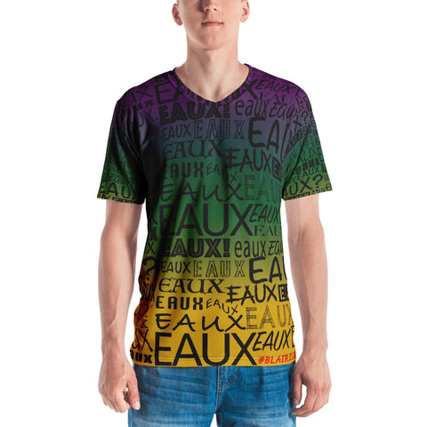 MARDI GRAS ALLEAUXVER BLACK Men's V NECK T-shirt