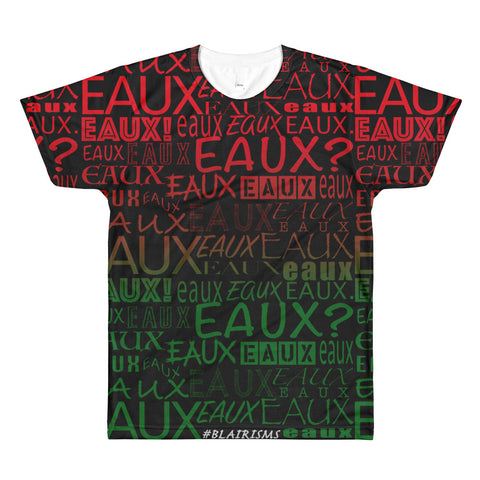 RED/GREEN/BLACK AllEAUXver Printed T-Shirt