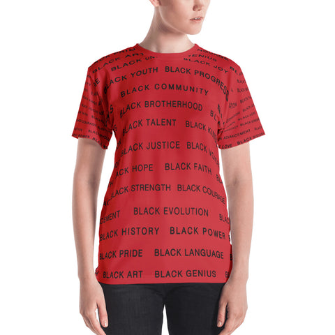 RED BLACK MAGIC ALL EAUX-ver Women's T-shirt