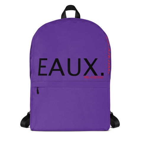 PURPLE & BLACK EAUX. Backpack