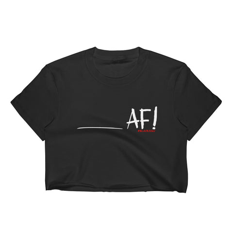 _______AF! Black Crop Top