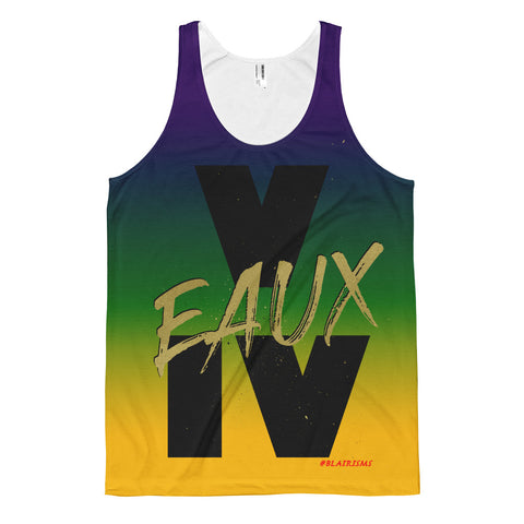 MARDI GRAS/BLACK/GOLD V EAUX IV Classic fit tank top