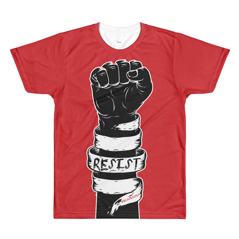 RESIST RED AllEAUXver Printed T-Shirt