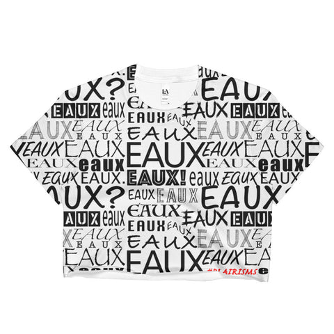 WHITE ALL EAUX-VER Crop Top