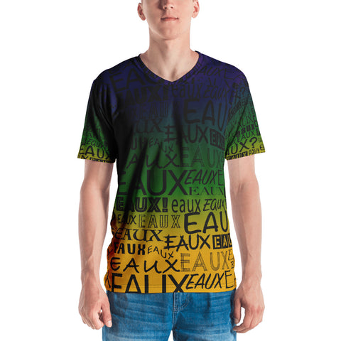 MARDI GRAS/BLACK ALLEAUXVER Men's T-shirt