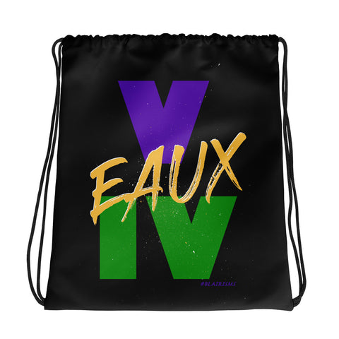 BLACK/MARDI GRAS Drawstring bag