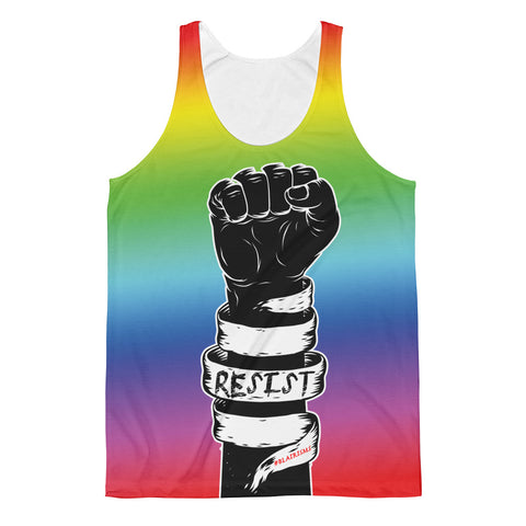 Rainbeaux Fist RESIST Unisex Classic Fit Tank Top
