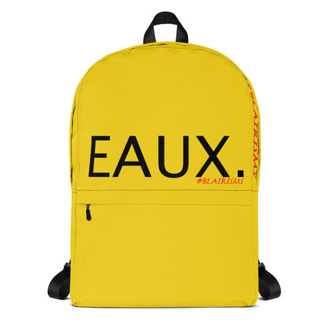 YELLOW & BLACK EAUX. Backpack
