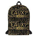 Black & Gold AllEAUXver Backpack
