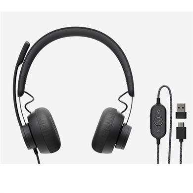 Logitech Zone Headset  Stereo - USB Type C - Wired