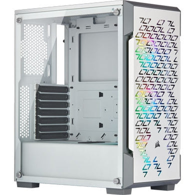 Corsair iCUE 220T RGB Airflow Tempered Glass Mid-Tower Smart Case - White