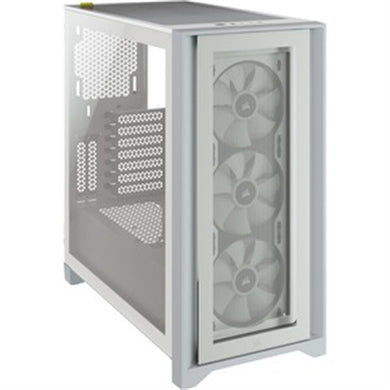 Corsair iCUE 4000X RGB Tempered Glass Mid-Tower ATX Case - White