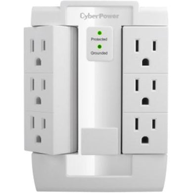 CyberPower CSB600WS Essential 6-Outlets Surge Suppressor Wall Tap and Swivel Outputs