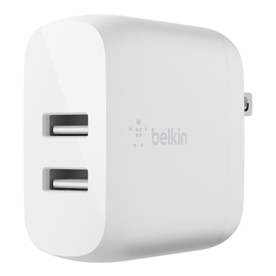 Belkin BOOST CHARGE Dual USB-A Wall Charger 24W 4.80 A Output