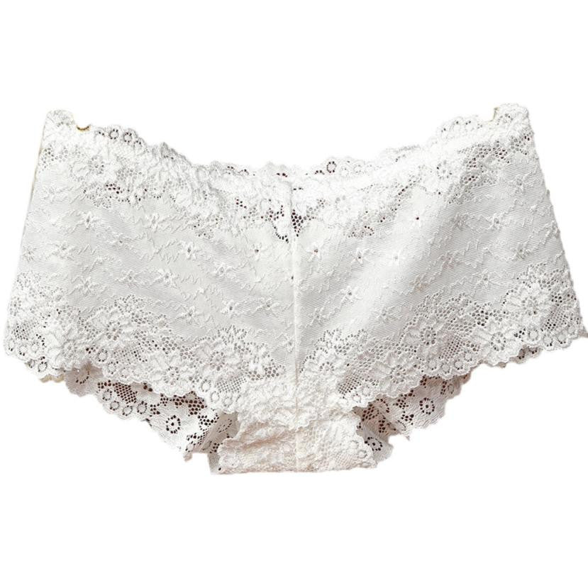 Boy Shorts in Lace! White Low Rise Panty