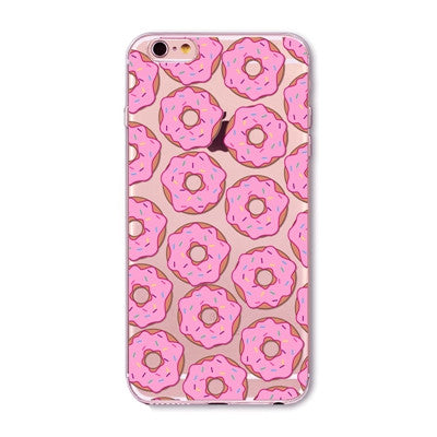 MMM Donut Clear Phone Case For 6 6s Plus 5 5s SE