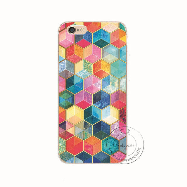 Super Shapes Shell Phone Case For iPhone 7 7Plus 6 6s Plus 5 5s SE