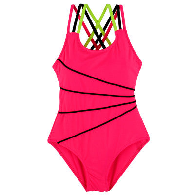 2017 Girls Pink Swimsuit One Piece