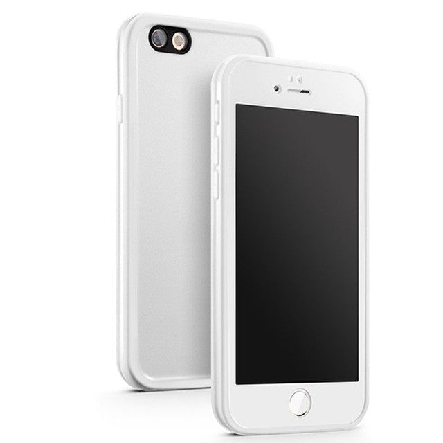 White 360 Sealed Watertight W/ Touch ID Phone Case For iPhone 7 7Plus 6 6s Plus 5 5s SE