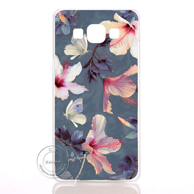 Pink Flower Datura Floral Clear Hard Plastic Case Cover For Samsung Galaxy S3 S4 S5 Mini S6 S7 Edge Note 2 3 4 5 7