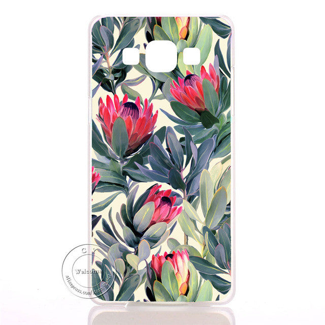 Pastel Flower Datura Floral Clear Hard Plastic Case Cover For Samsung Galaxy S3 S4 S5 Mini S6 S7 Edge Note 2 3 4 5 7