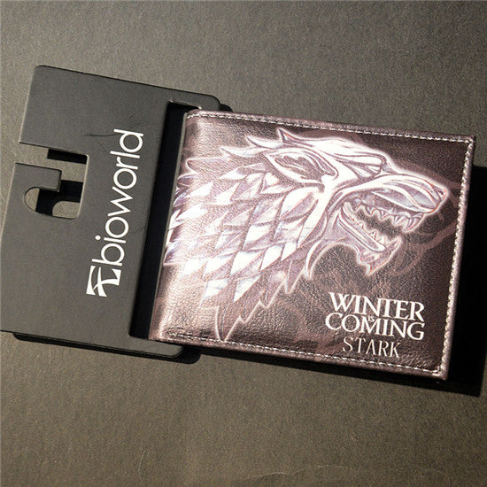 Game Of Thrones Winter Is Coming Stark Wallet