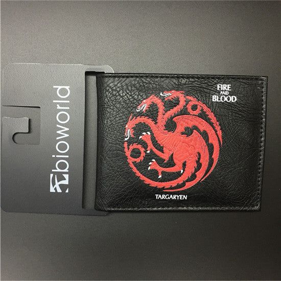 Game Of Thrones Fire and Blood Targaryen Black Wallet