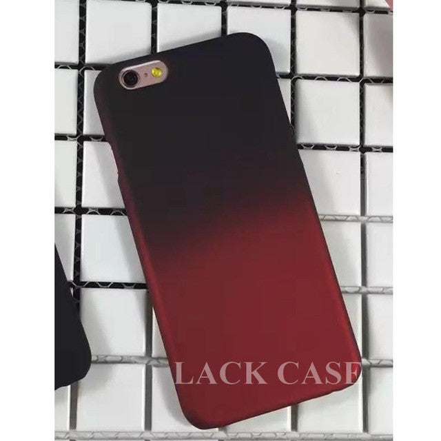 Black Fade to Maroon Case For iphone 6 6S Plus