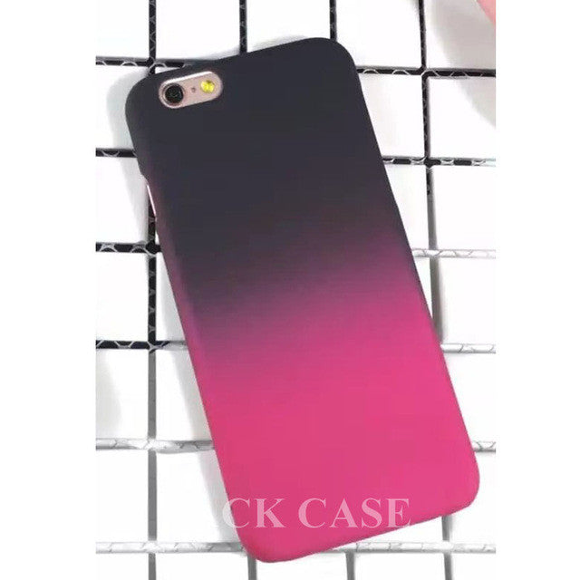 Black Fade To Red Case For iphone 6 6S Plus