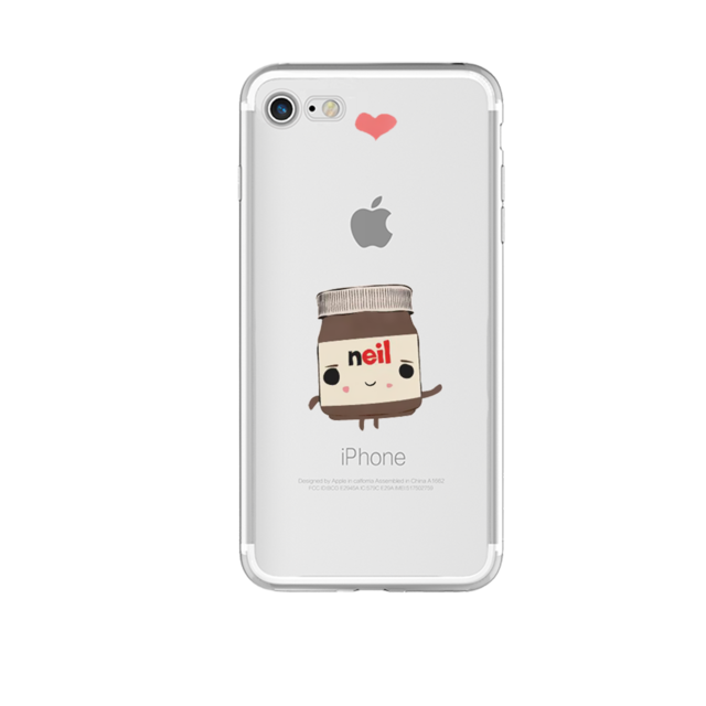 Nutella Jar named Neil as a cartoon character Phone Case For iPhone 7 7Plus 6 6s Plus 5 5s SE