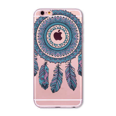 Blue Indian Feather Phone Case for iPhone 7 6 6s