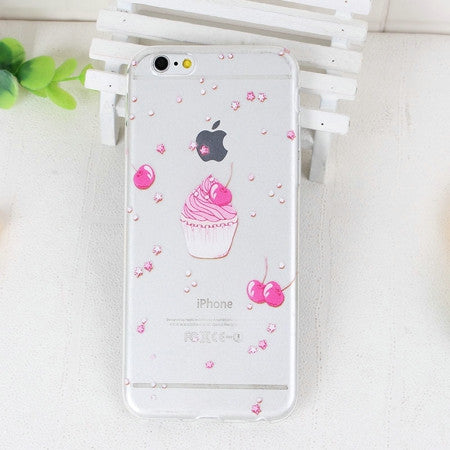 Cherry Cupcakes Phone Case For iPhone 7 7Plus 6 6s Plus 5 5s SE
