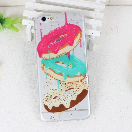 Dripping Donuts Phone Case For iPhone 7 7Plus 6 6s Plus 5 5s SE