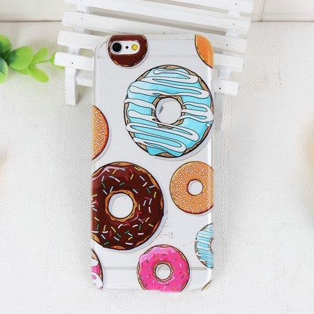 MMM Donuts Phone Case For iPhone 7 7Plus 6 6s Plus 5 5s SE