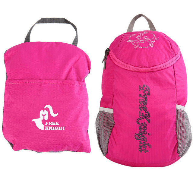 Pink Unisex Ultralight Waterproof Hiking Bag