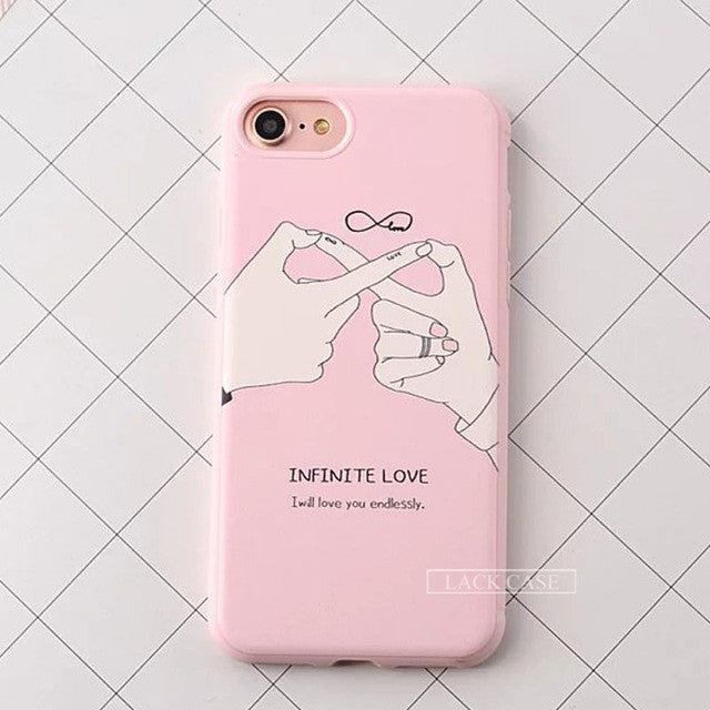 Infinite Love Pink Phone Case For iPhone 7 7Plus 6 6s Plus