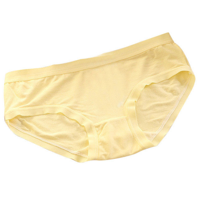 2017 Sexy Seamless Yellow Panty Briefs