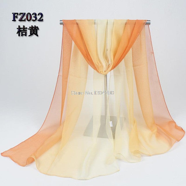Chiffon 2017 Beach Cover/Scarves Orange/Yellow 135*175cm