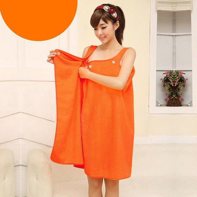 Beach/Bath Wrap Orange 138*80cm Microfiber