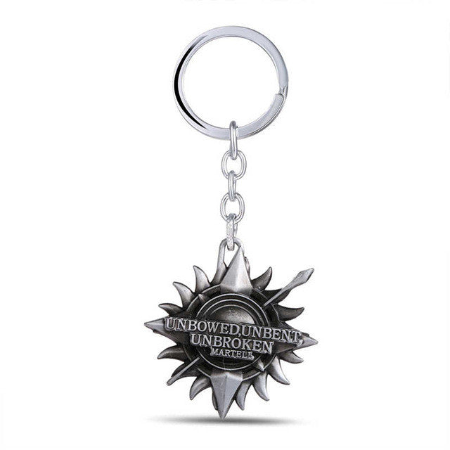 Game of Thrones /Martell/ Silver Key Chain/A Song of Ice & Fire