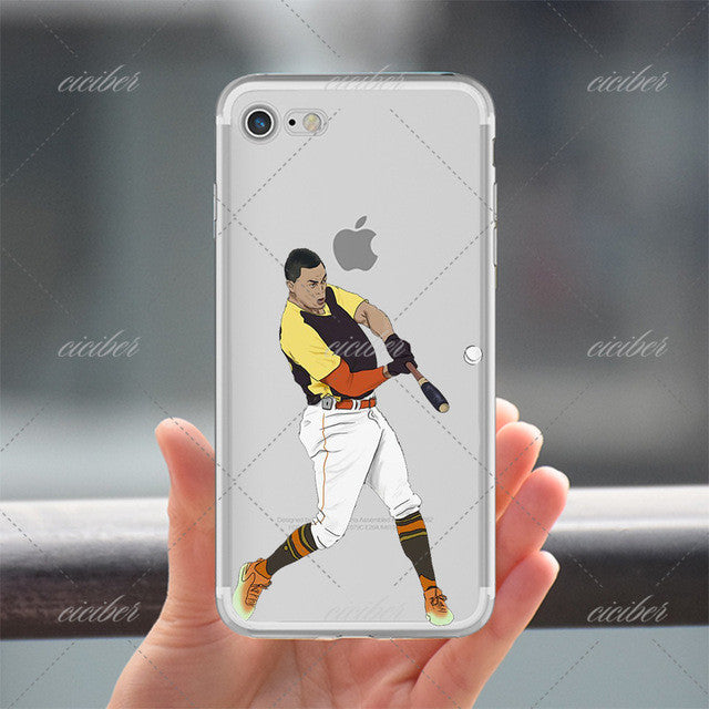 Average Baseball Clear Phone Case for ALL iPhone 7 7Plus 6 6s Plus 5 5s SE