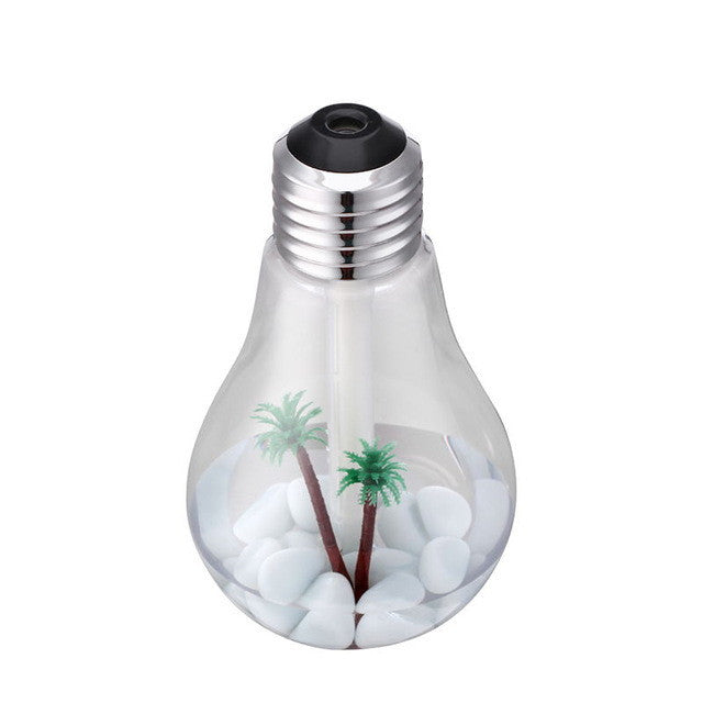Home Humidifier Ultrasonic USB  Really Cool! WIth Decor Palm Trees &Rocks