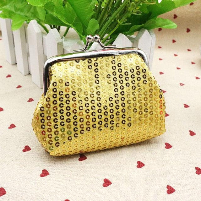 Small Sequin Gold Card/Coin Clutch