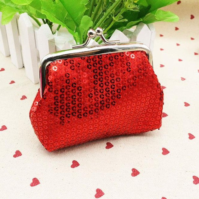 Small Sequin Red Card/Coin Clutch