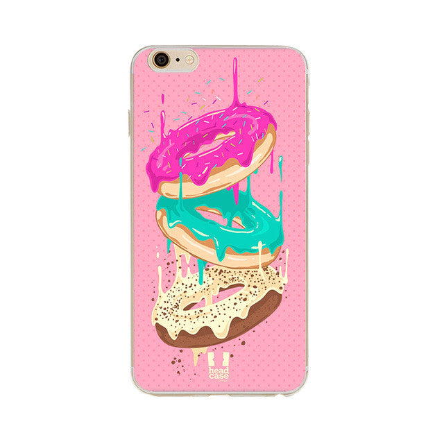 Donuts with Dripping Icing Phone Case For iPhone 7 7Plus 6 6s Plus 5 5s SE
