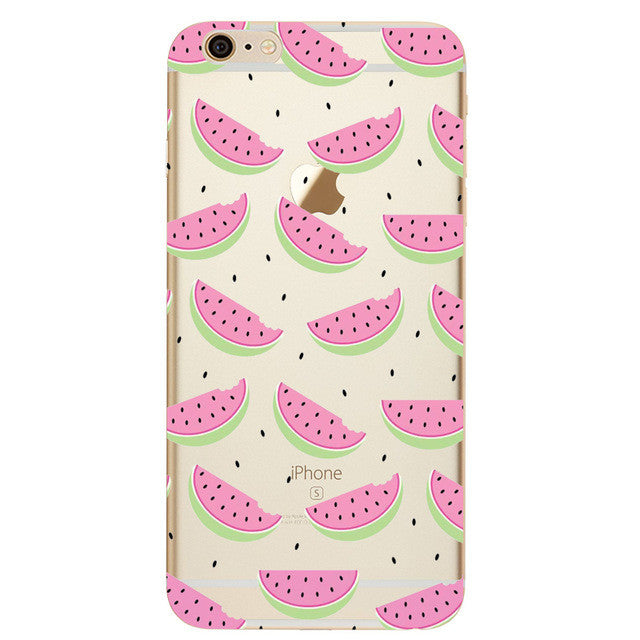 Small Watermellon Slices Phone Case For iPhone 7 7Plus 6 6s Plus 5 5s SE